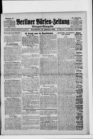 Berliner Börsen-Zeitung on Feb 14, 1920