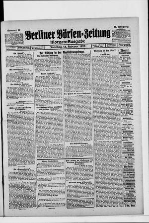 Berliner Börsen-Zeitung vom 15.02.1920