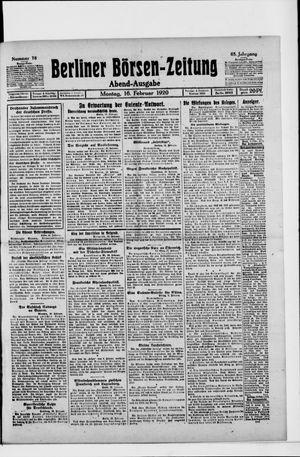 Berliner Börsen-Zeitung vom 16.02.1920
