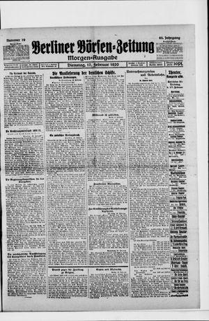 Berliner Börsen-Zeitung vom 17.02.1920
