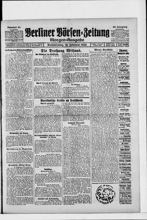 Berliner Börsen-Zeitung vom 19.02.1920