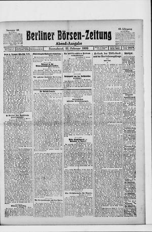 Berliner Börsen-Zeitung on Feb 21, 1920