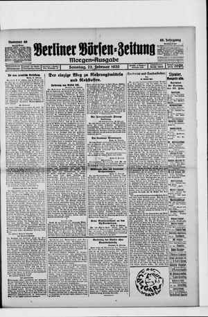 Berliner Börsen-Zeitung vom 22.02.1920