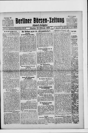 Berliner Börsen-Zeitung vom 23.02.1920