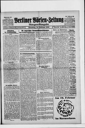 Berliner Börsen-Zeitung vom 24.02.1920