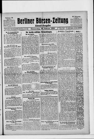 Berliner Börsen-Zeitung on Feb 26, 1920