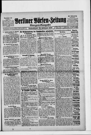 Berliner Börsen-Zeitung vom 27.02.1920