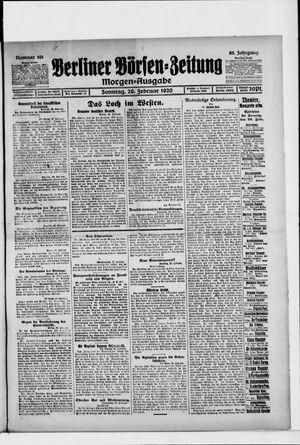 Berliner Börsen-Zeitung vom 29.02.1920