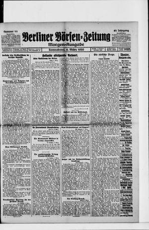 Berliner Börsen-Zeitung vom 06.03.1920
