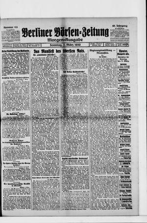 Berliner Börsen-Zeitung vom 07.03.1920