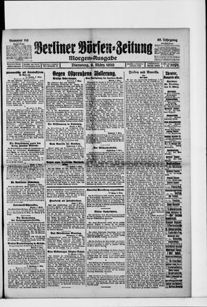 Berliner Börsen-Zeitung vom 09.03.1920