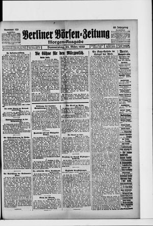 Berliner Börsen-Zeitung vom 25.03.1920