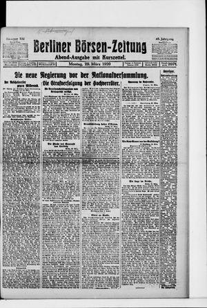 Berliner Börsen-Zeitung vom 29.03.1920