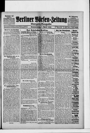 Berliner Börsen-Zeitung vom 01.04.1920
