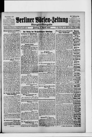 Berliner Börsen-Zeitung vom 02.04.1920
