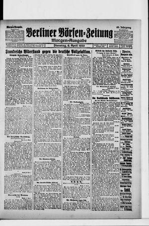 Berliner Börsen-Zeitung vom 06.04.1920