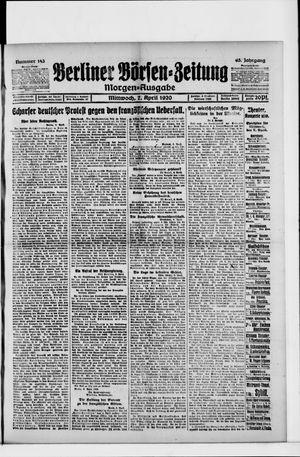 Berliner Börsen-Zeitung vom 07.04.1920