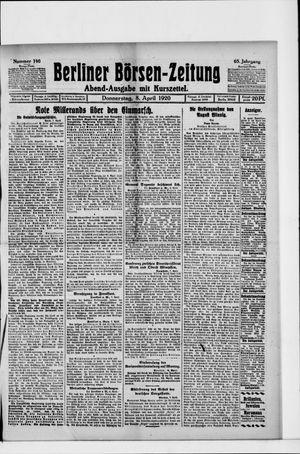 Berliner Börsen-Zeitung vom 08.04.1920
