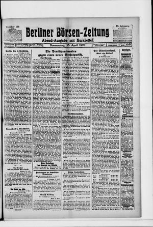 Berliner Börsen-Zeitung on Apr 15, 1920