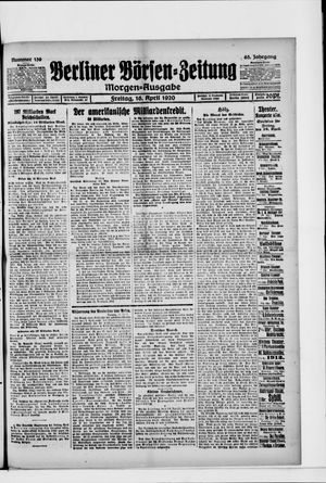 Berliner Börsen-Zeitung vom 16.04.1920