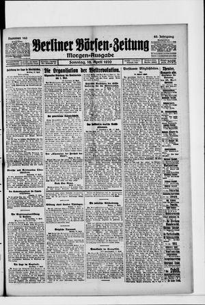 Berliner Börsen-Zeitung vom 18.04.1920