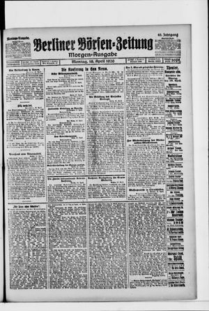 Berliner Börsen-Zeitung vom 19.04.1920