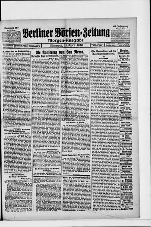 Berliner Börsen-Zeitung vom 21.04.1920