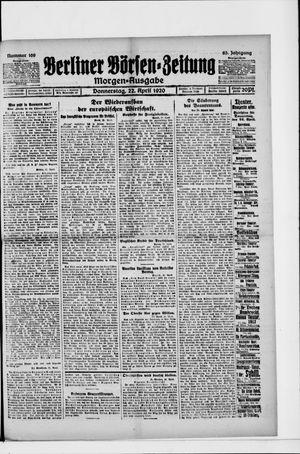 Berliner Börsen-Zeitung vom 22.04.1920