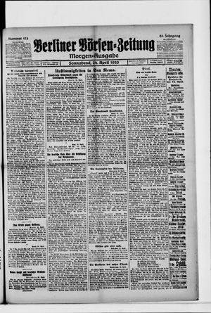 Berliner Börsen-Zeitung vom 24.04.1920