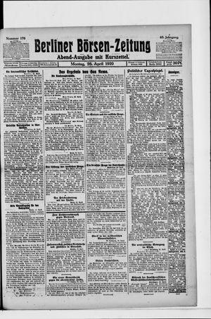 Berliner Börsen-Zeitung vom 26.04.1920