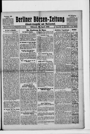 Berliner Börsen-Zeitung vom 28.04.1920