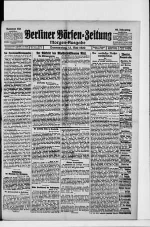 Berliner Börsen-Zeitung vom 13.05.1920