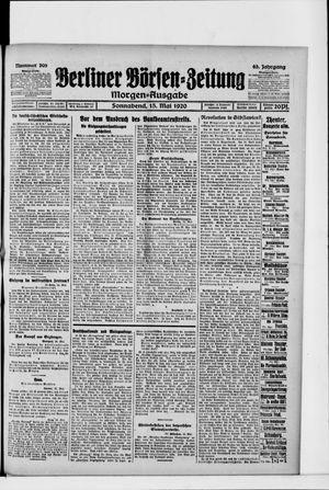Berliner Börsen-Zeitung vom 15.05.1920