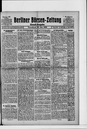 Berliner Börsen-Zeitung vom 22.05.1920