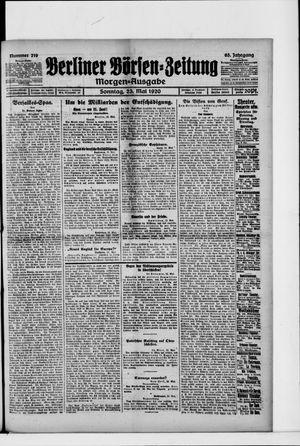 Berliner Börsen-Zeitung vom 23.05.1920