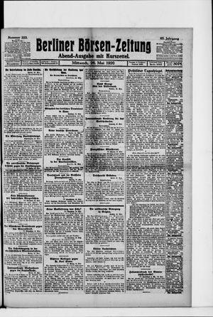 Berliner Börsen-Zeitung vom 26.05.1920