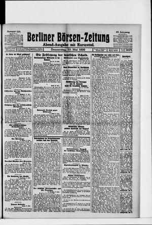 Berliner Börsen-Zeitung vom 27.05.1920