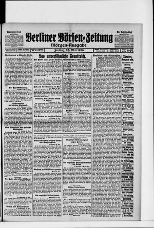 Berliner Börsen-Zeitung vom 28.05.1920