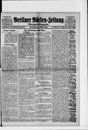 Berliner Börsen-Zeitung vom 30.05.1920