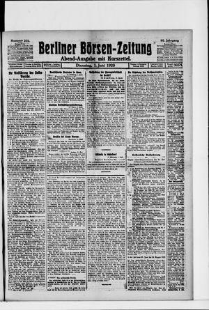 Berliner Börsen-Zeitung vom 01.06.1920