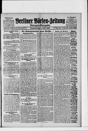 Berliner Börsen-Zeitung vom 03.06.1920