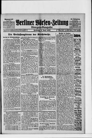 Berliner Börsen-Zeitung vom 04.06.1920
