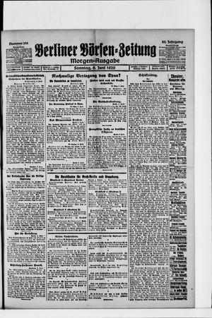 Berliner Börsen-Zeitung vom 06.06.1920