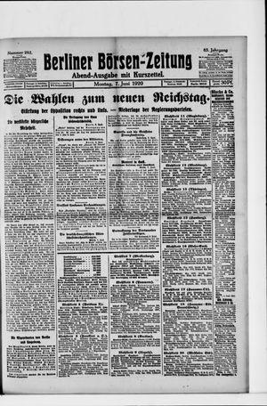 Berliner Börsen-Zeitung on Jun 7, 1920