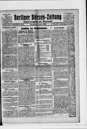 Berliner Börsen-Zeitung vom 08.06.1920