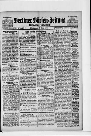 Berliner Börsen-Zeitung vom 09.06.1920