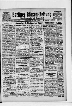 Berliner Börsen-Zeitung vom 10.06.1920