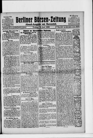 Berliner Börsen-Zeitung on Jun 11, 1920