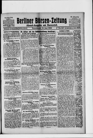 Berliner Börsen-Zeitung vom 12.06.1920
