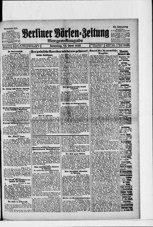 Berliner Börsen-Zeitung vom 13.06.1920